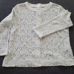 Banana republic lace blouse